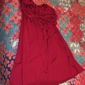 Maroon mini dress, size Large
